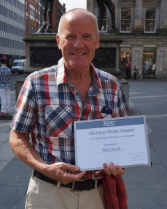 Dr Bob Scott said he was 'privileged' to receive the Award. HSS (c)
