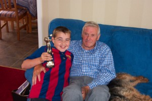 Bill with his grandson