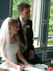 Karen Watts and Martin Reijns had the first legal Humanist Wedding in 2005