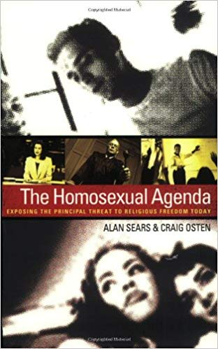 a picture of the front cover of 'the homosexual agenda' book