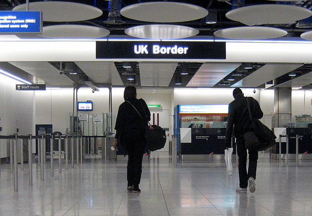 a picture of the UK Border at Heathrow airport